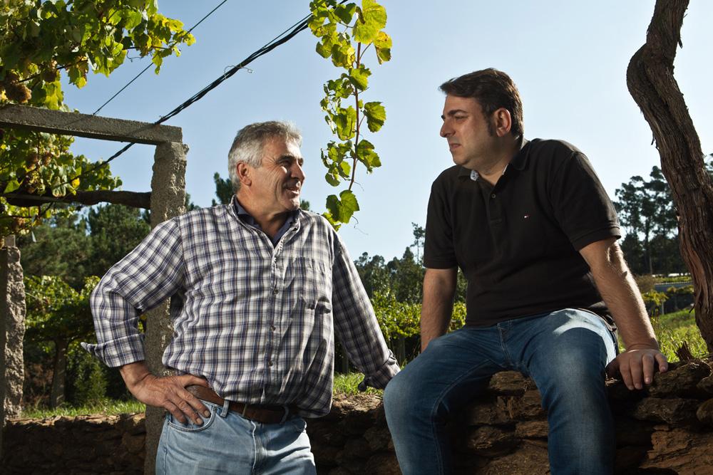 Sebio y Manuel en Aios - Sanxenxo